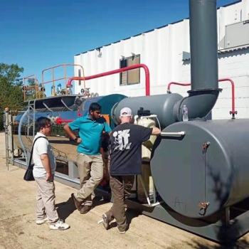 TAIGUO WNS4-1.25-Y(Q), 4tons/hr Skid-Mounted Type Gas Boiler is working in Mexico
