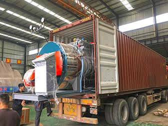 Shipping 1TON/H Skid-mounted Diesel Steam Boilers to FIJI