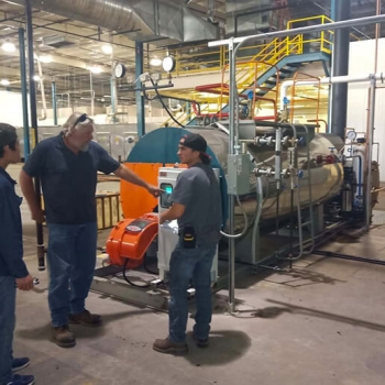 TAIGUO 2Sets of 2TON/H Gas Steam Boiler are Working in Kansas City, Missouri, USA