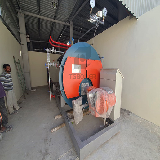 2TON/H Skid-Mounted Type Gas Boiler WNS2-1.25-Y(Q) Working in Oman for Paper Mill Plant