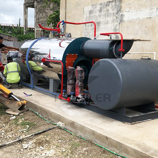 500KG/H Skid-Mounted Type Gas Boiler WNS0.5-1.0-Y(Q) Working in Philippines for Animal Feed Processing