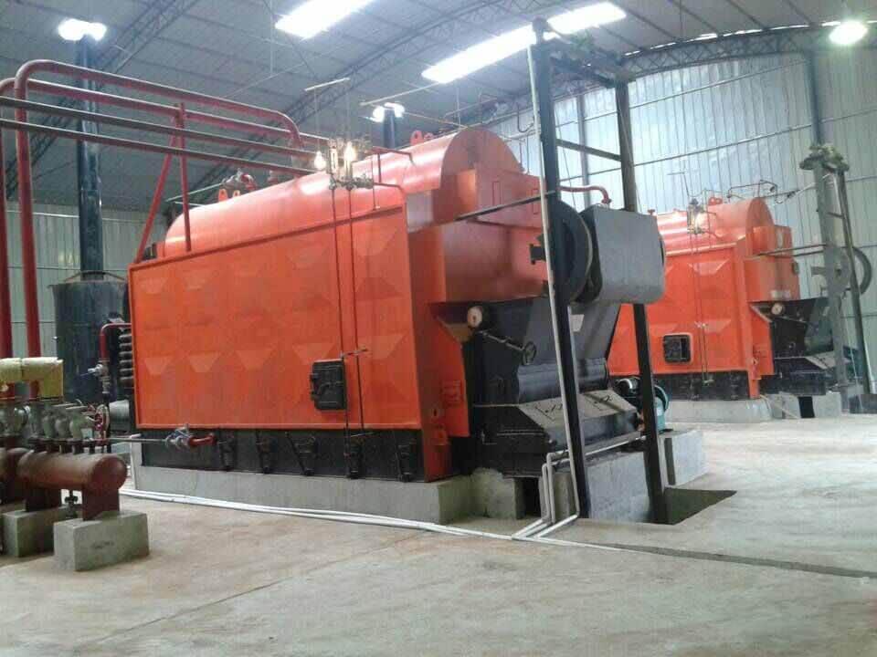2sets of 2tons/hr coal biomass fired steam boiler
