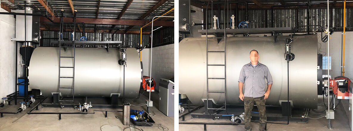 1.5tons/hr gas fired steam boiler